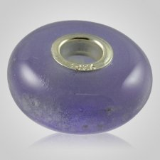 Lavender Elegance Cremation Ash Bead