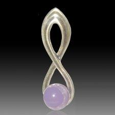 Lavender Eternity Cremation Ash Pendant