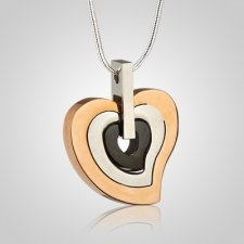 Layered Heart Cremation Pendant