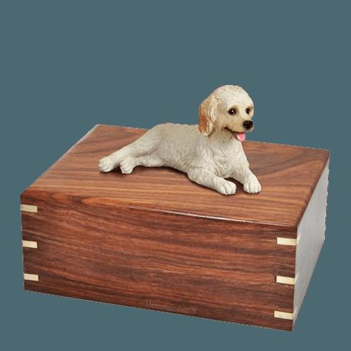 Laying Labradoodle Large Doggy Urn