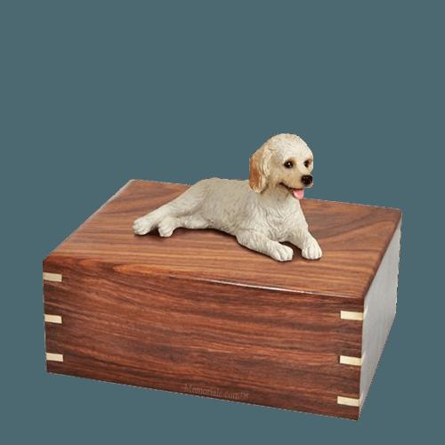 Laying Labradoodle Medium Doggy Urn