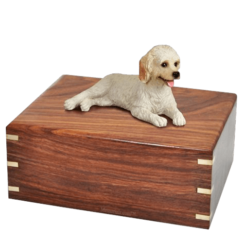 Laying Labradoodle Doggy Urns