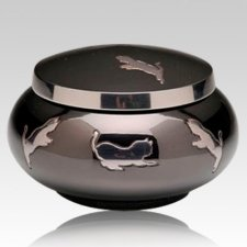 Leaping Cat Cremation Urn II