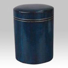 Leather Round Scattering Cremation Urn