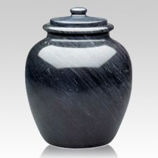 Legacy Black Keepsake Cremation Urn