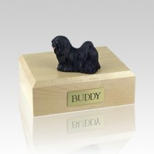 Lhasa Apso Black Large Dog Urn