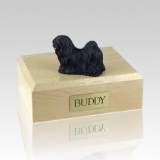 Lhasa Apso Black X Large Dog Urn
