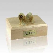 Lhasa Apso Blonde X Large Dog Urn