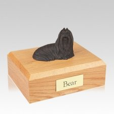 Lhasa Apso Bronze Large Dog Urn