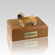 Lhasa Apso Brown Puppycut Large Dog Urn