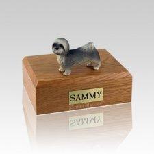 Lhasa Apso Gray Puppycut Medium Dog Urn