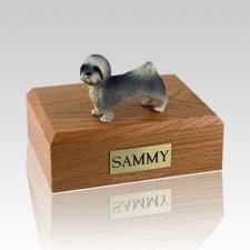 Lhasa Apso Gray Puppycut X Large Dog Urn