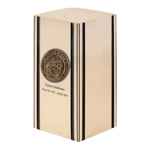 Liberty Marines Bronze Military Cremation Urn