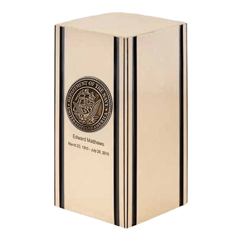 Liberty Navy Bronze Military Cremation Urn