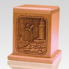 Lighthouse Cherry Keepsake Cremation Urn