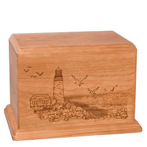 Lighthouse Companion Cherry Wood Urn