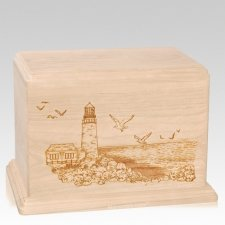 Lighthouse Companion Maple Wood Urn