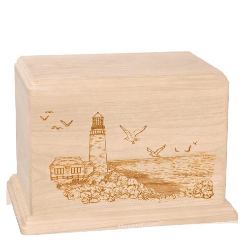 Lighthouse Companion Maple Wood Urn