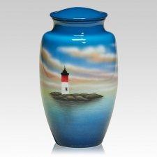 Lighthouse Metal Cremation Urn