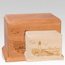 Lighthouse Wood Urns