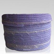 Lilac Cotton Keepsake Cremation Urn