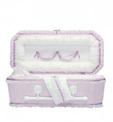 Lilac Love Child Caskets