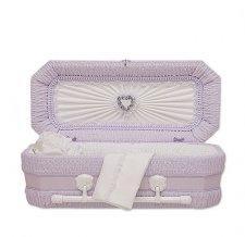 Lilac Ray Premie Child Casket