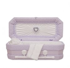 Lilac Ray Small Child Casket