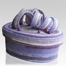 Lilac Twist Cotton Keepsake Cremation Urn