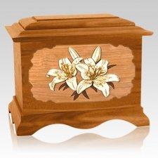 Lily Mahogany Cremation Urn