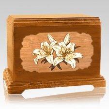 Lily Mahogany Hampton Cremation Urn