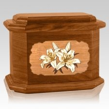 Lily Mahogany Octagon Cremation Urn