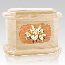 Lily Maple Octagon Cremation Urn