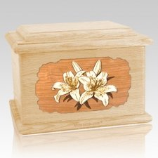 Lily Maple Memory Chest Cremation Urn