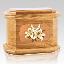 Lily Oak Octagon Cremation Urn