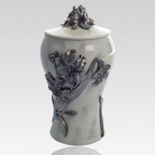 Lily Pewter Keepsake Cremation Urn