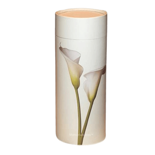 Lily Scattering Biodegradable Urn