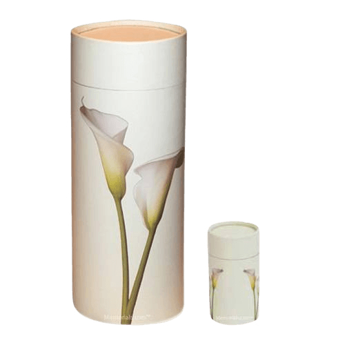 Lily Scattering Biodegradable Urns