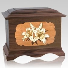 Lily Wood Cremation Urns