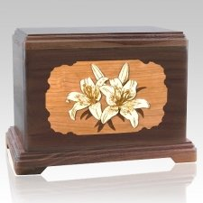 Lily Walnut Hampton Cremation Urn