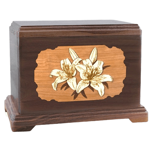Lily Walnut Hampton Cremation Urn