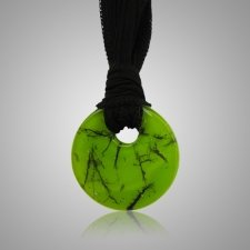 Lime Hair Memorial Necklace