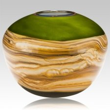 Sphere Lime Cremation Urn For Two