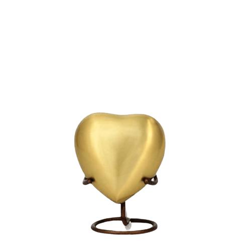 Lineas Bronze Heart Cremation Urn