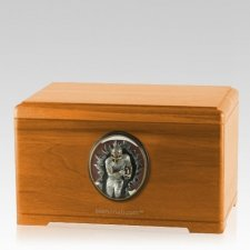 Linebacker Oak Cremation Urn