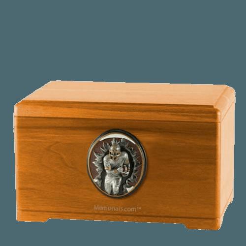 Linebacker Oak Cremation Urn