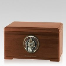Linebacker Walnut Cremation Urn