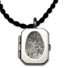 Locket Silver Print Keepsake