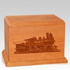 Locomotive Companion Mahogany Wood Urn