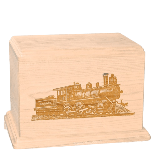 Locomotive Companion Maple Wood Urn